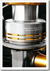 SHIMANO--TWIN--POWER-SW-----Particolare-bobina-e-indicazioni-tecniche-al-laser