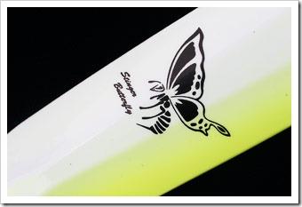 Butterfly-Shimano-particolare-logo