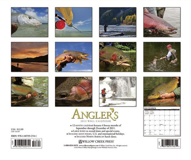 Anglers 2013 calendar fly fishing rear