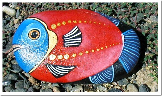 FISH ROCK Painting 10