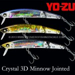 Yo-Zuri 3D Crystal Minnow Jointed