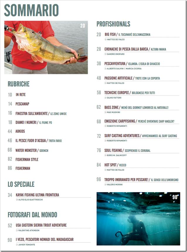 Sommario Pesca Magazine