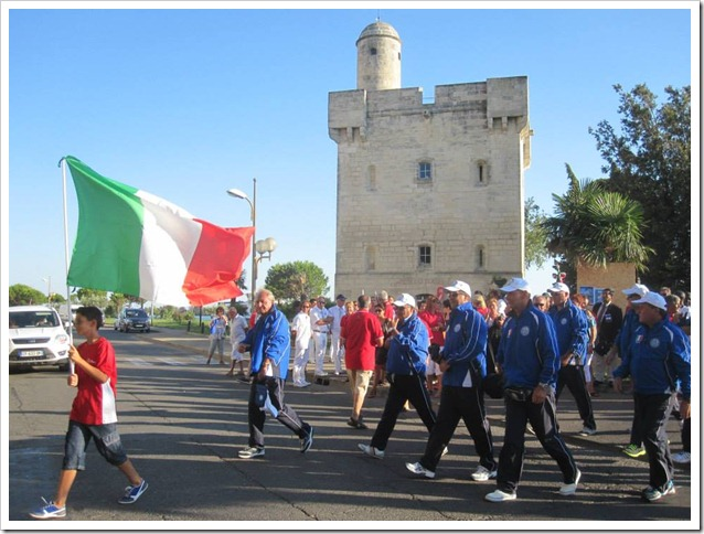 Championat du Monde 2013 team azzurro sfilata di apertura