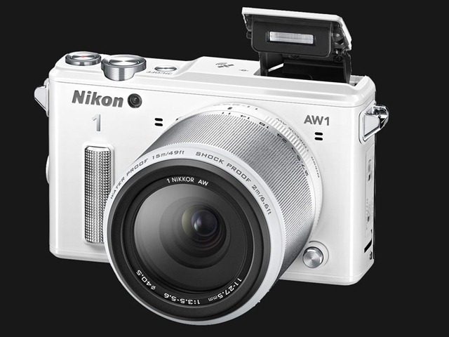 NIKON 1 AW1 withe side