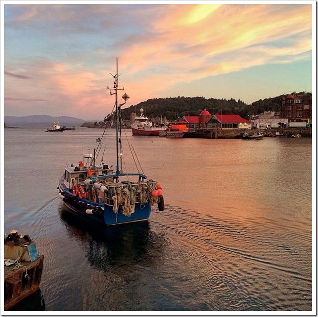 IPhone 5 photos Oban harbour