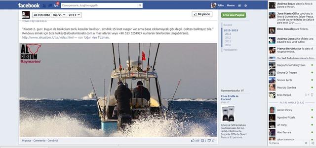 Alacati partenza Al Custom su Facebook del 6 ottobre