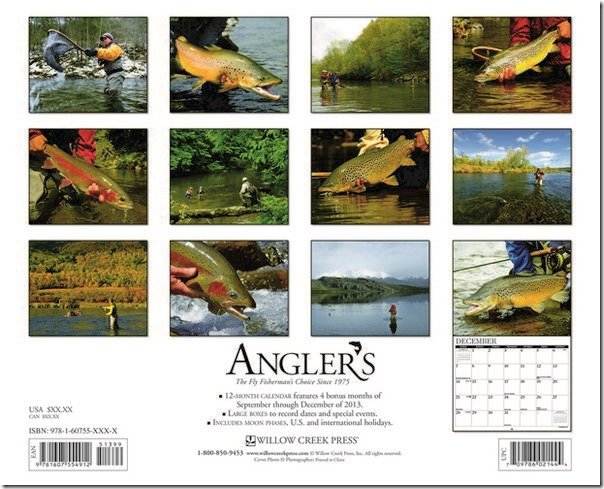 MegaCalendars-Willow-Creek-Press-2014-Wall-Calendar-Anglers-9781607557845-Back-Cover