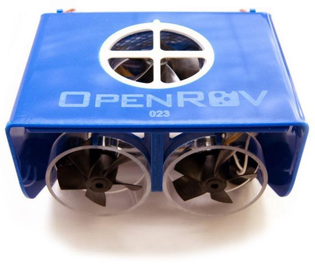 OpenROV drone subacqueo vista posteriore