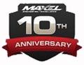 Maxel 10 anniversary logo