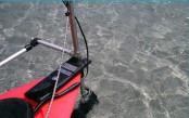 Skimmer kayak motor kit