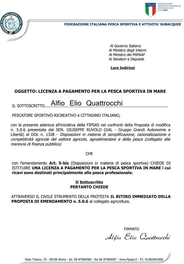 La Federazione Italiana Pesca Sportiva e Attività Subacquee, in seguito alla soppressione della Sportass, la Cassa di Previdenza per l'assicurazione degli sportivi, ha esperito trattativa privata con brokers del settore per reperire sul mercato il nuovo