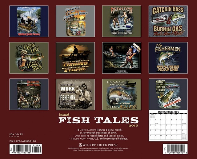 Buck-Wears-Fishing-Tales-2015-Wall-Calendar-Willow-Creek-Press-MegaCalendars-9781623432188-Back-Cover
