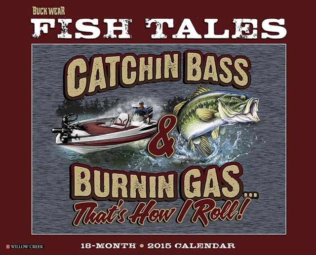 Buck-Wears-Fishing-Tales-2015-Wall-Calendar-Willow-Creek-Press-MegaCalendars-9781623432188-Front