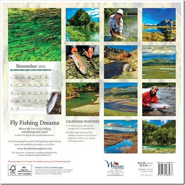 Fly fishing Dreamscalendar-2015-pictures