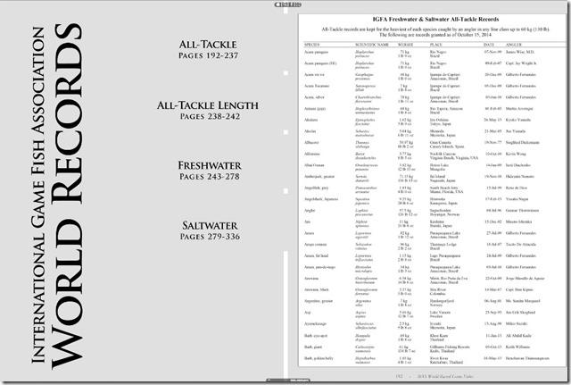 IGFA BOOK 10 record elenco