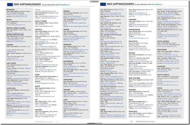 IGFA BOOK 8 elenco capt italia