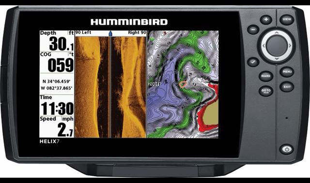 Humminbird helix 7 series front