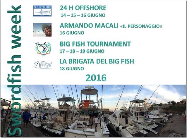 Swordfish Week eventi