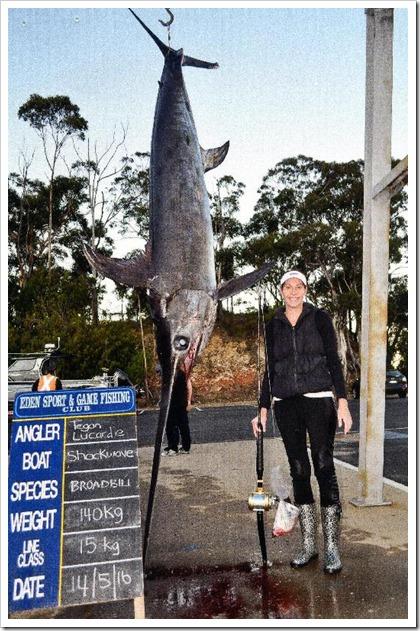Aussie record swordfish