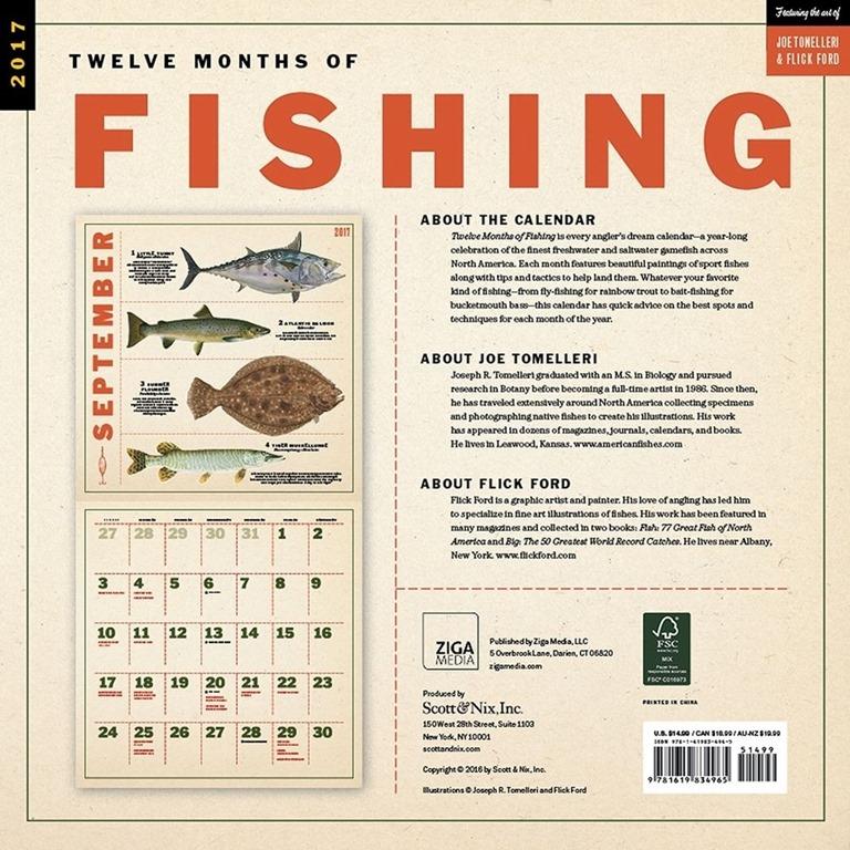 Fishing calendar 2017 for Fishing calendar 2017