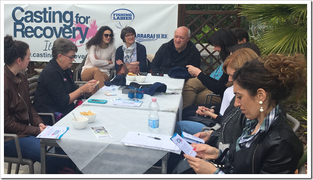 Mary Turney con medici Carrara e associazoni di CfR Italia