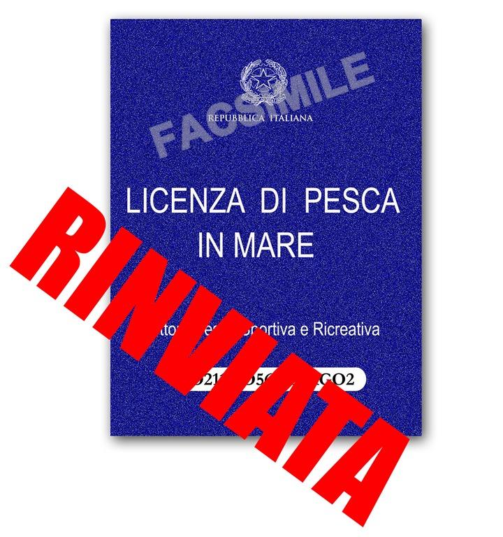 Licenza Pesca in Mare 2017 Rinviata