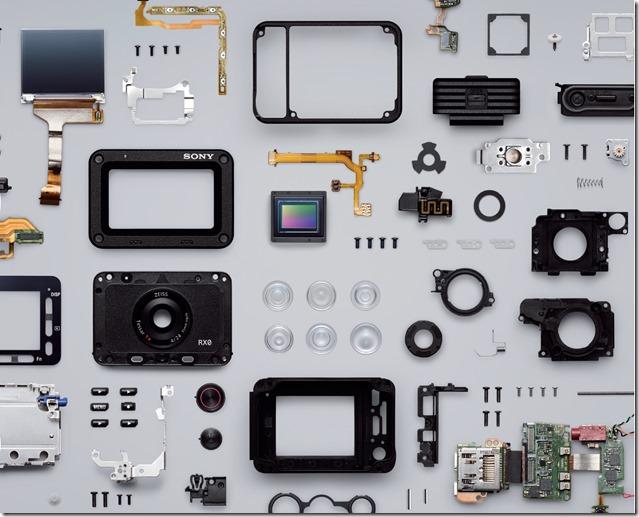 Sony-RXO-Spaccato-componenti-meccanici-elettronici