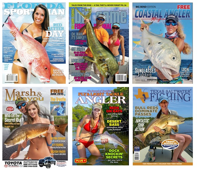 USA Fishing mag covers