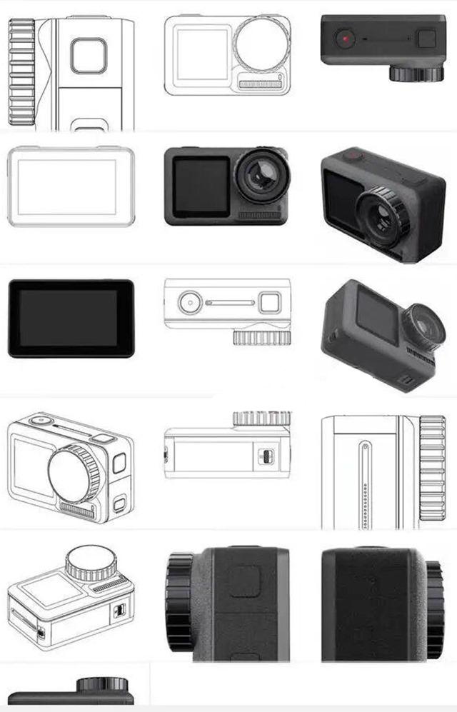 DJI-Action-Cam-prime foto e disegni