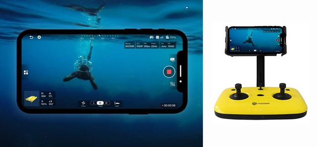GLADIUS-MINI-ROV joystick e smarphone