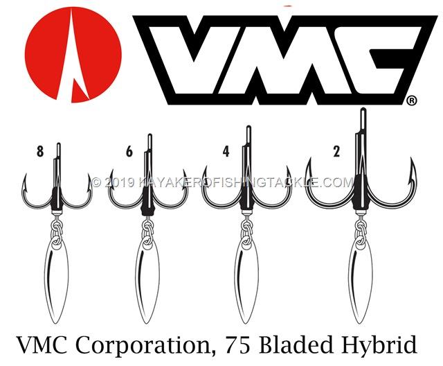 VMC bladed hybrid treble hook