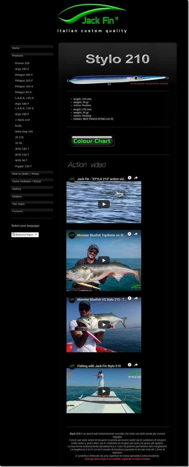 Jack Fin Stylo 210 web site