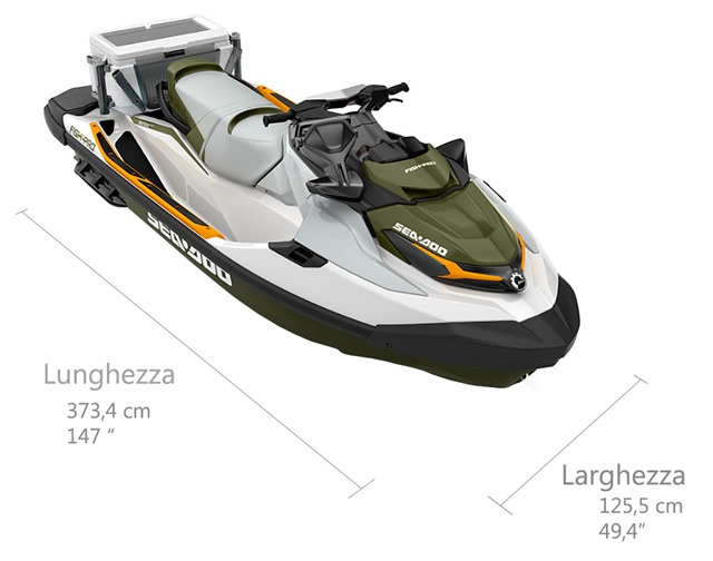 SEADOO-FISH-PRO-Jetsky-fishing misure