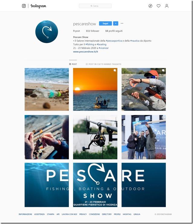 PESCARE SHOW Instagram pag pc