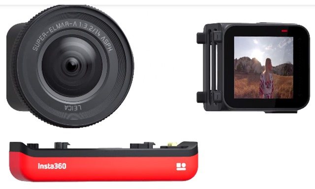 INSTA360-1-Inch-R-Leica display ruotabile