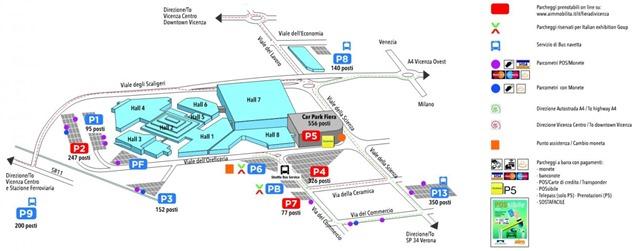 Mappa Fiera Vicenza