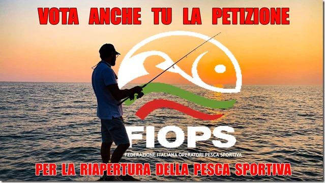 Petizione FIOPS riapertura pesca sportiva