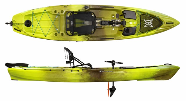 PERCEPTION KAYAKS Pescador Pilot 12 0 viste